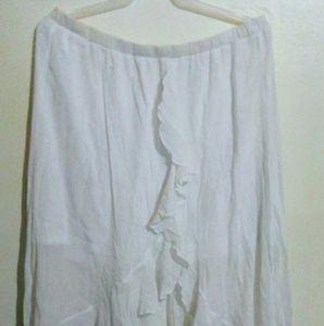 Dresses & Skirts - Long sheer white skirt